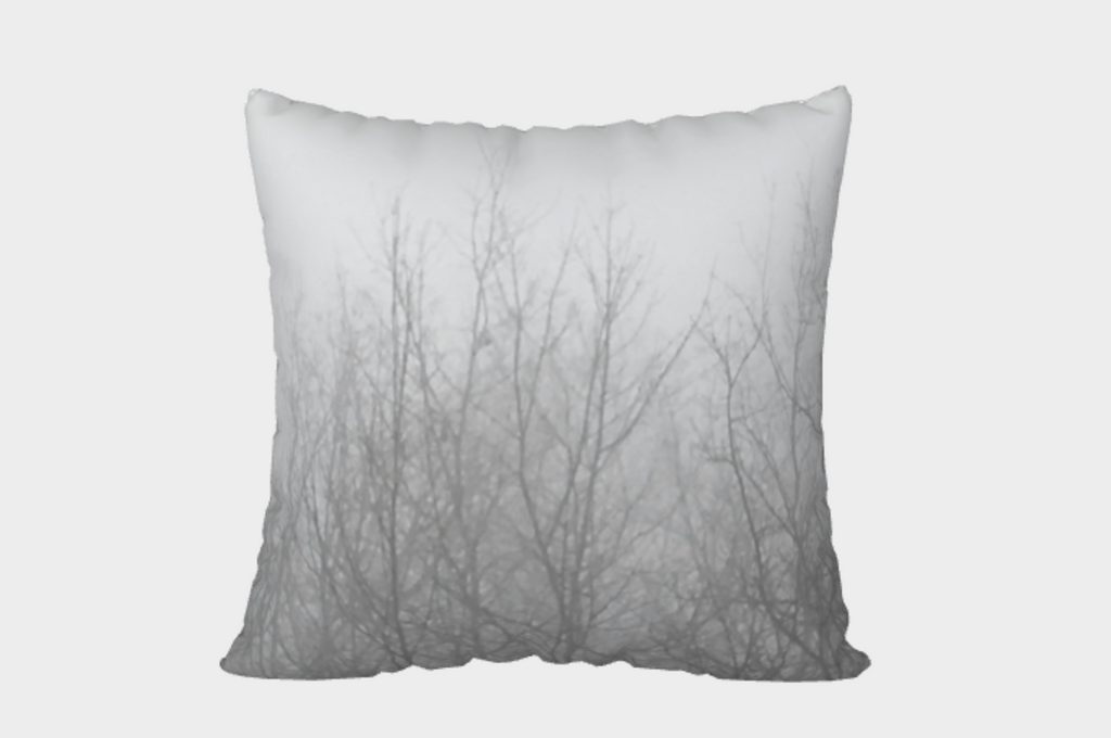 Ghost Trees Pillow Cover (white)