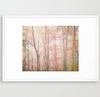 Pink Forest Fog Art Print