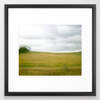 Field and Clouds Art Print