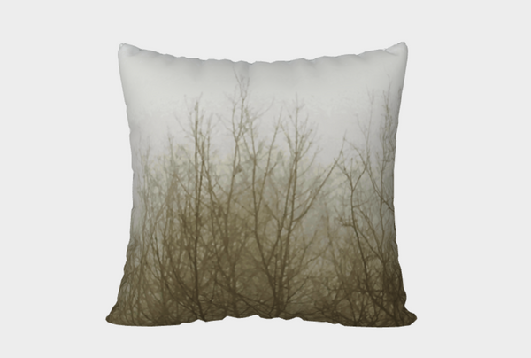 Ghost Trees Pillow Cover (brown)