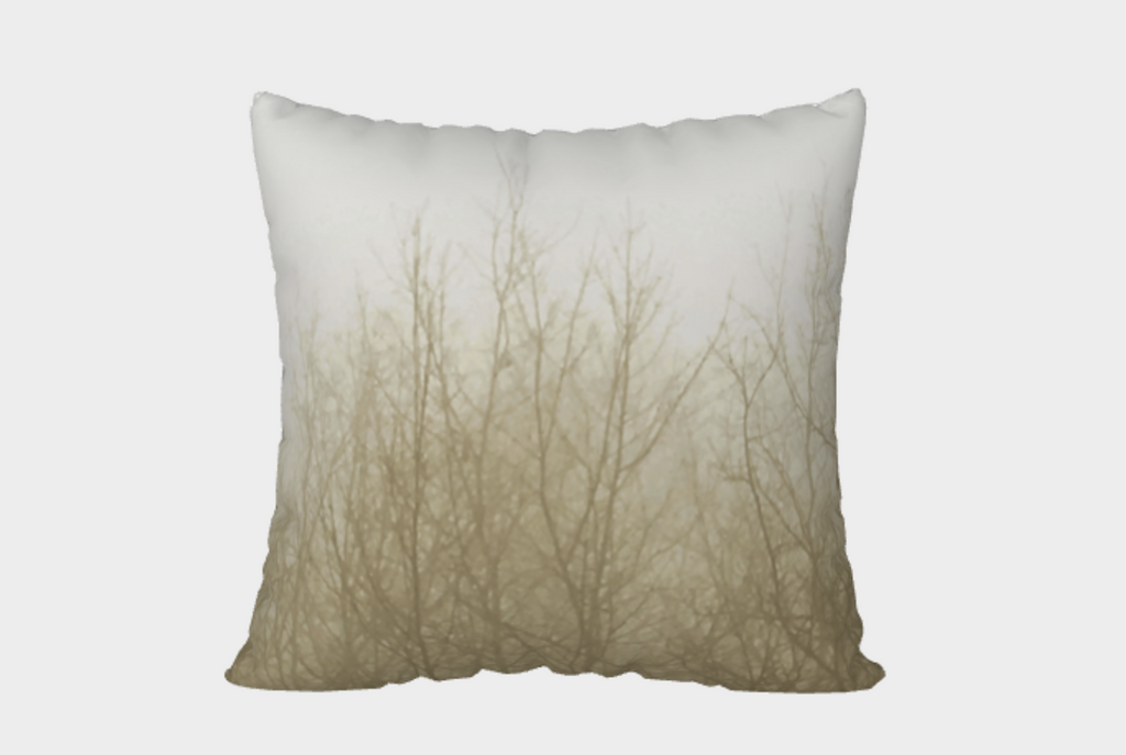 Ghost Trees Pillow Cover (tan)