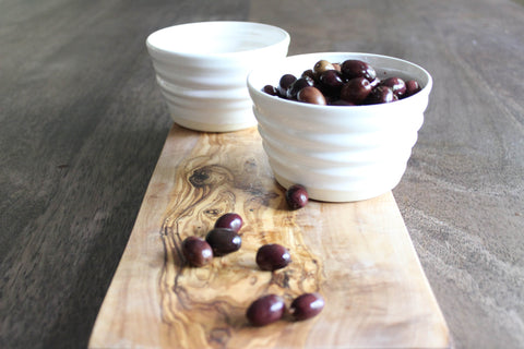 Appetizer Bowls and Wood Board Gift Set
