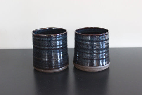 Midnight Cups, set of 2