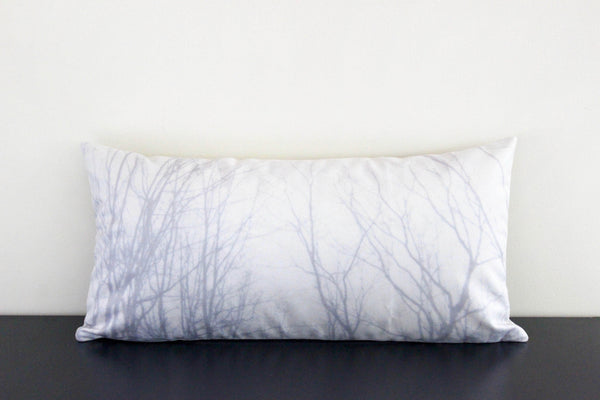 Branches 1 (Light Gray) Pillow Cover