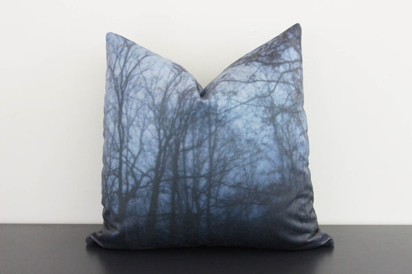 Dark Forest Pillow Cover (blue)