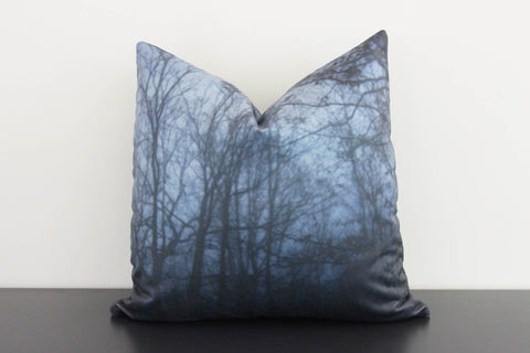 Dark Forest (blue) Pillow Cover