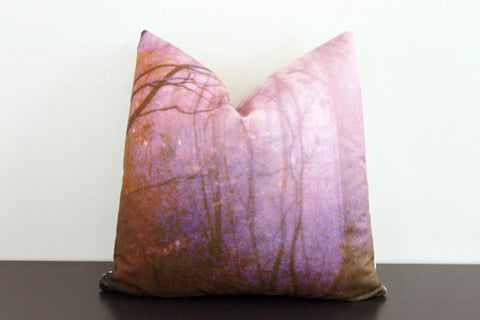 Deep Forest (violet) Pillow Cover