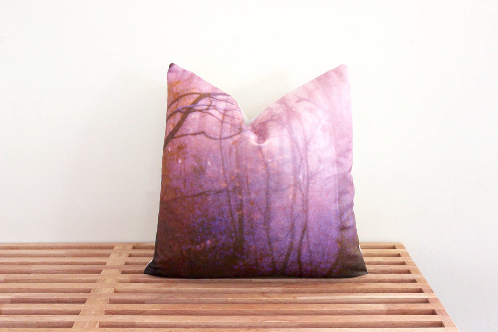 Deep Forest Pillow Cover (violet)