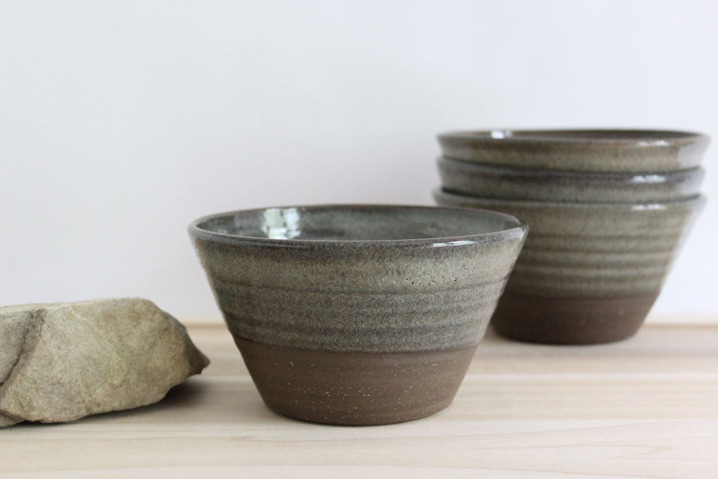 Hand thrown modern pottery bowls