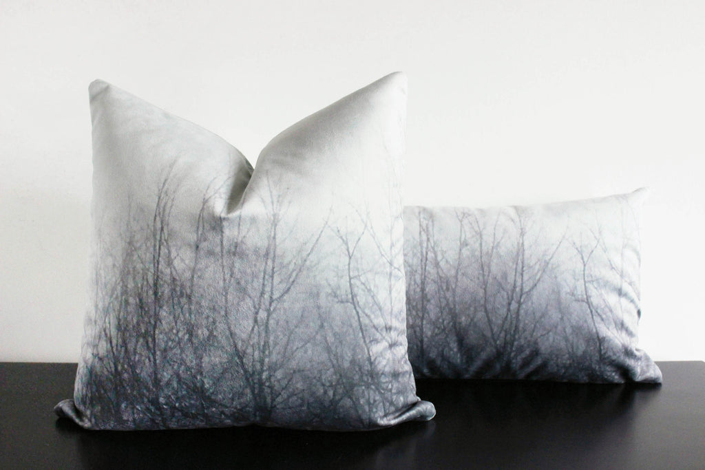 Ghost Trees Pillow Cover (light gray)