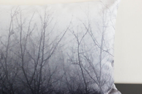 Ghost Trees (gray) Pillow Cover