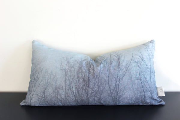Ghost Trees Pillow Cover (blue)