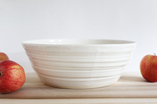 Large White Centerpiece Bowl