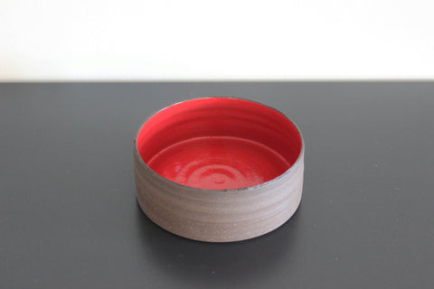 Small Red CLIFF Low Bowl