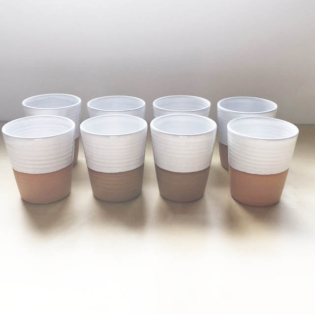 Set of 8 - Mug without a handle BUNDLE