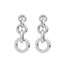 Triple Hoop Glossy Earrings