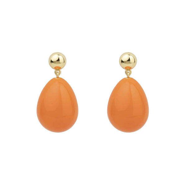 Orange Mini Drop Earrings