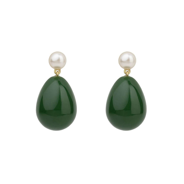 Green Mini Drop Earrings