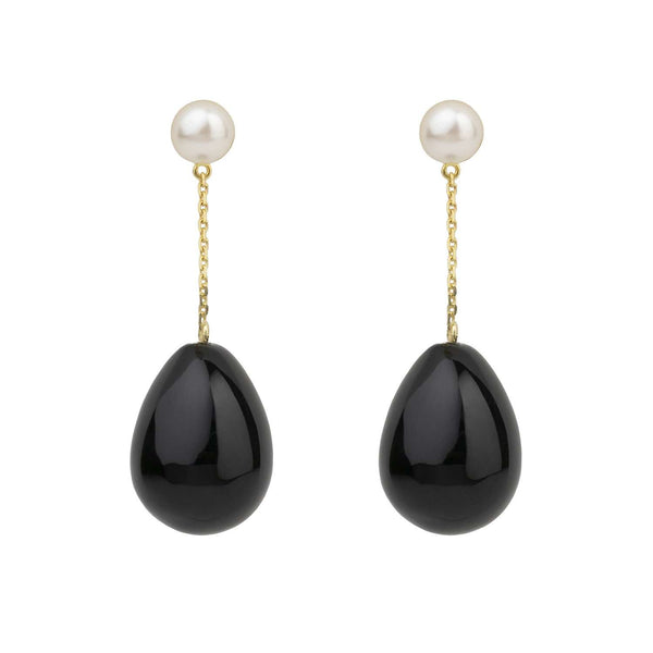 Black Mini Drop Earrings