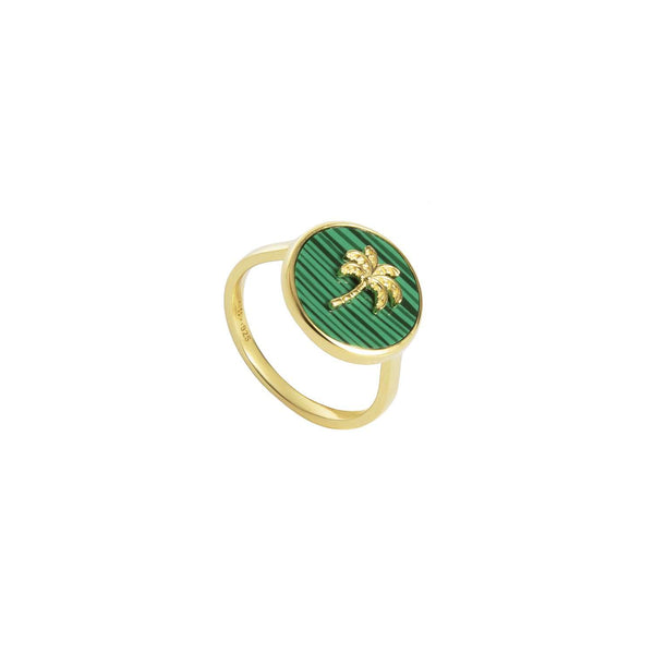 Malachite Palm Ring