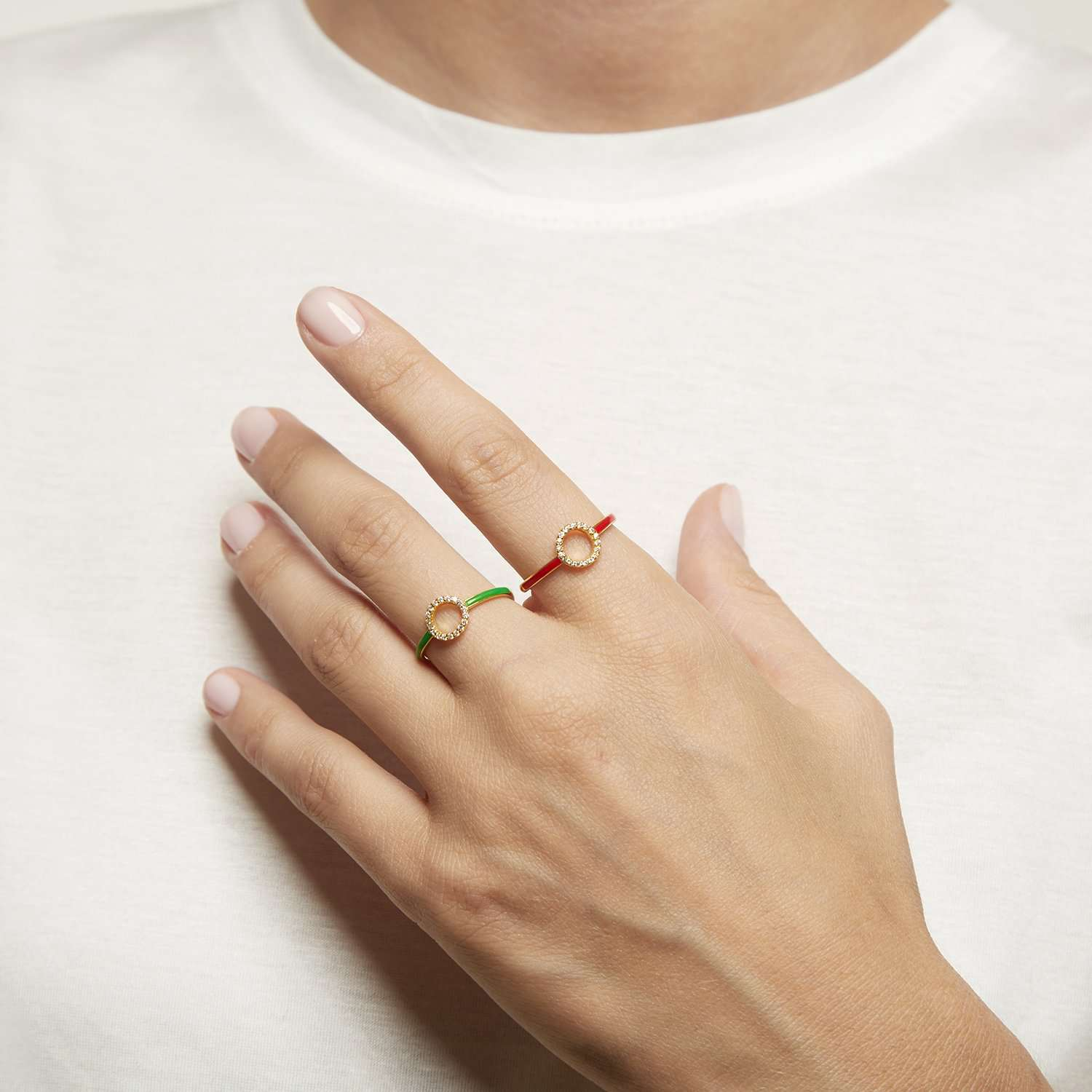 Shop Red Enamel Ring | ESHVI