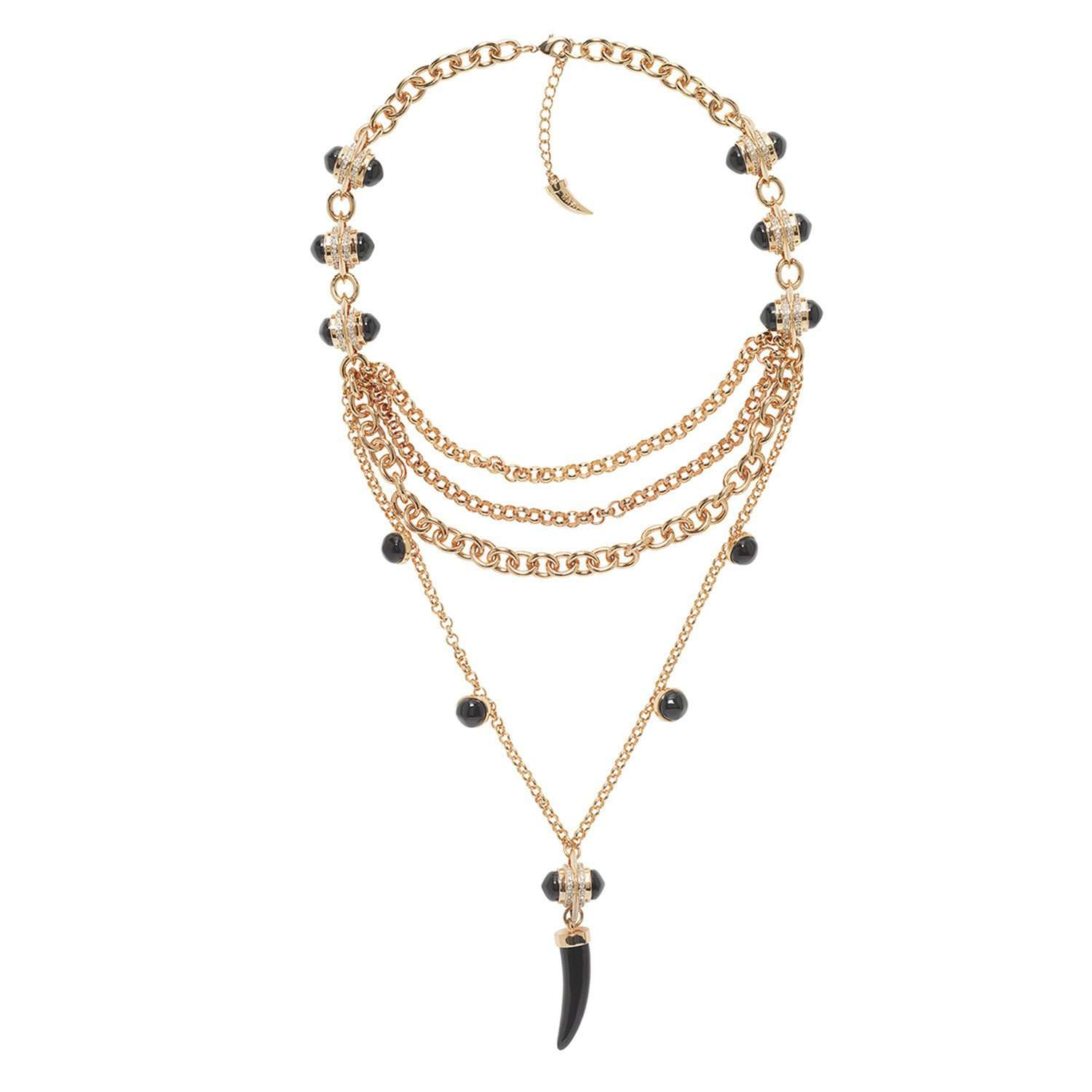Jazz glitz layered necklace
