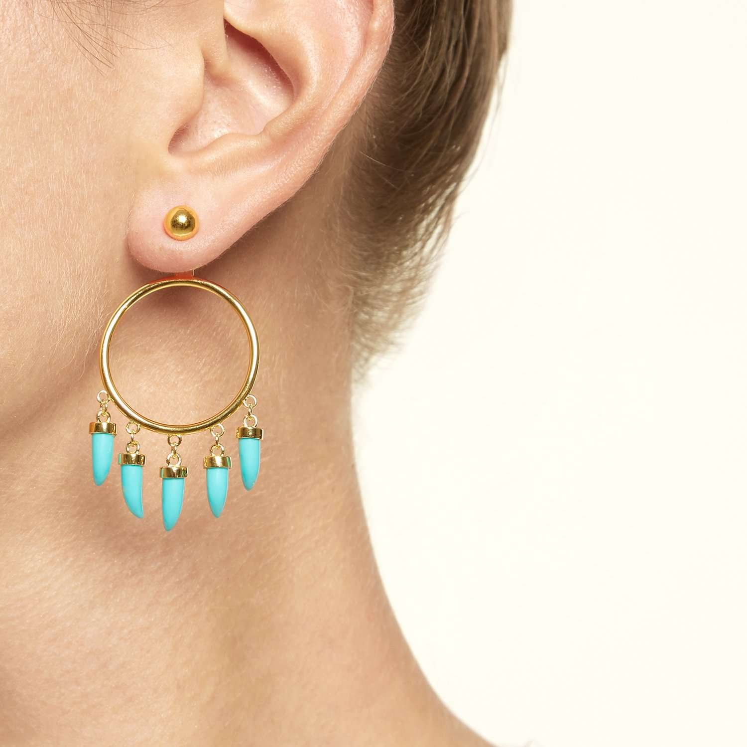Shop Earrings with Turquoise Stones | ESHVI
