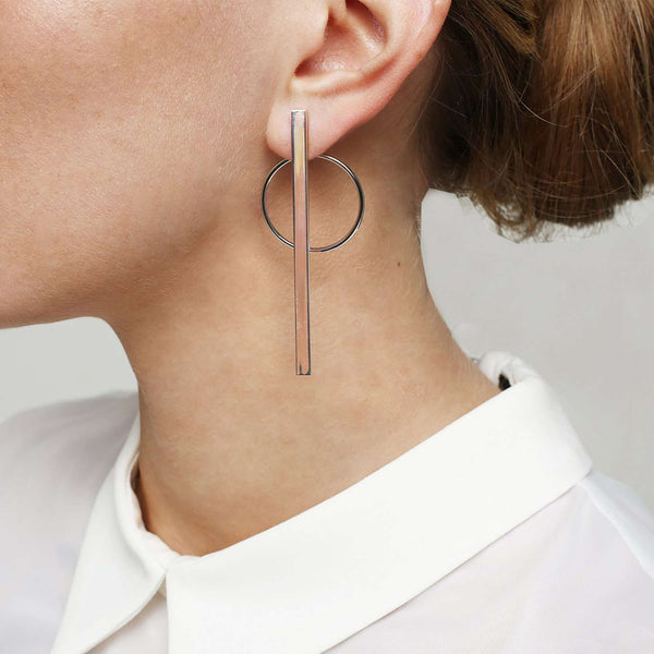 Circle -stick earrings