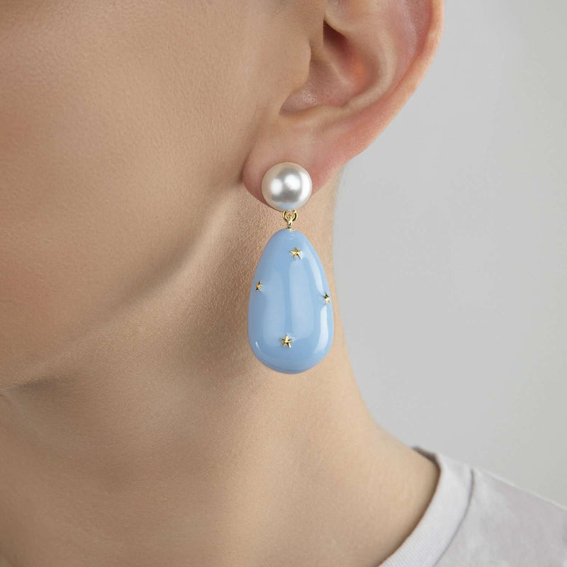 Drop Earrings with Stars