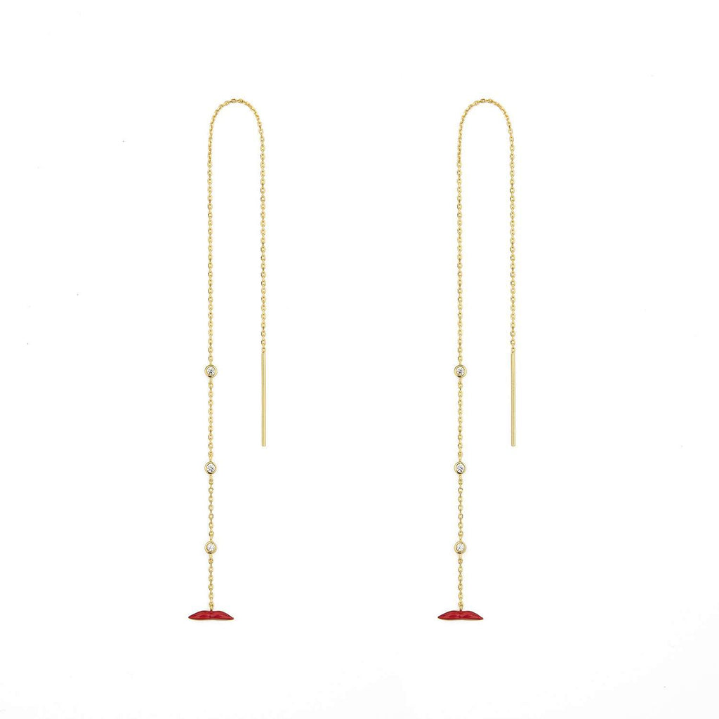 Chain lips  Earrings