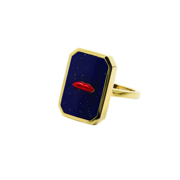 Lapis lips ring