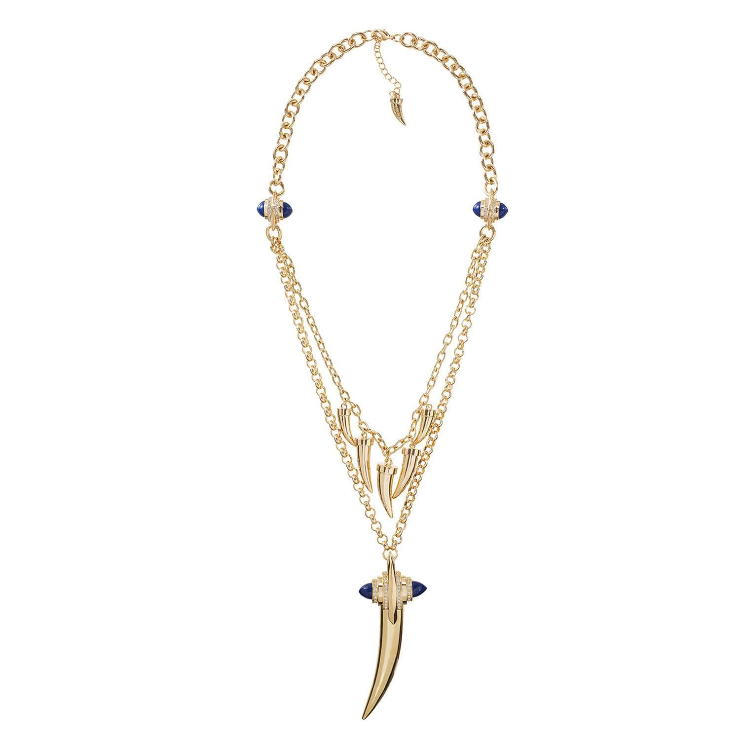 Jazz glitz two-layered necklace
