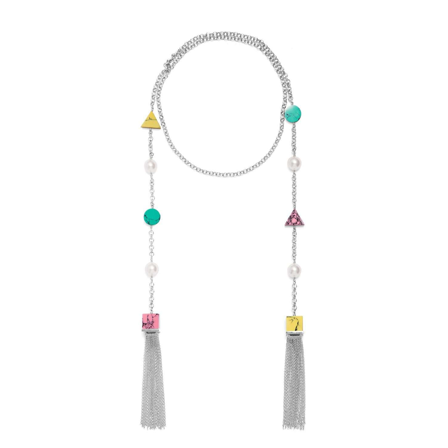 Back to school tassel necklace