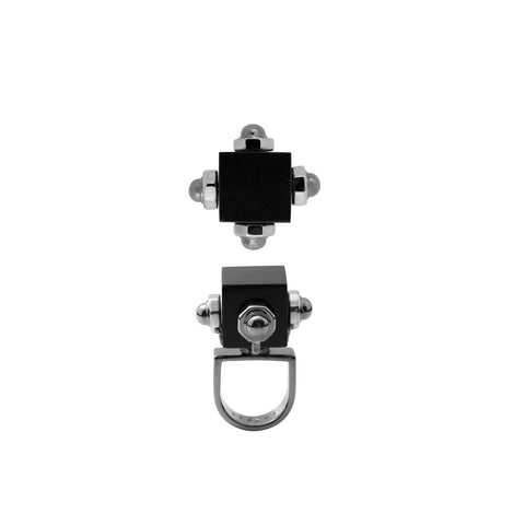 contemporary costume ring with black cube