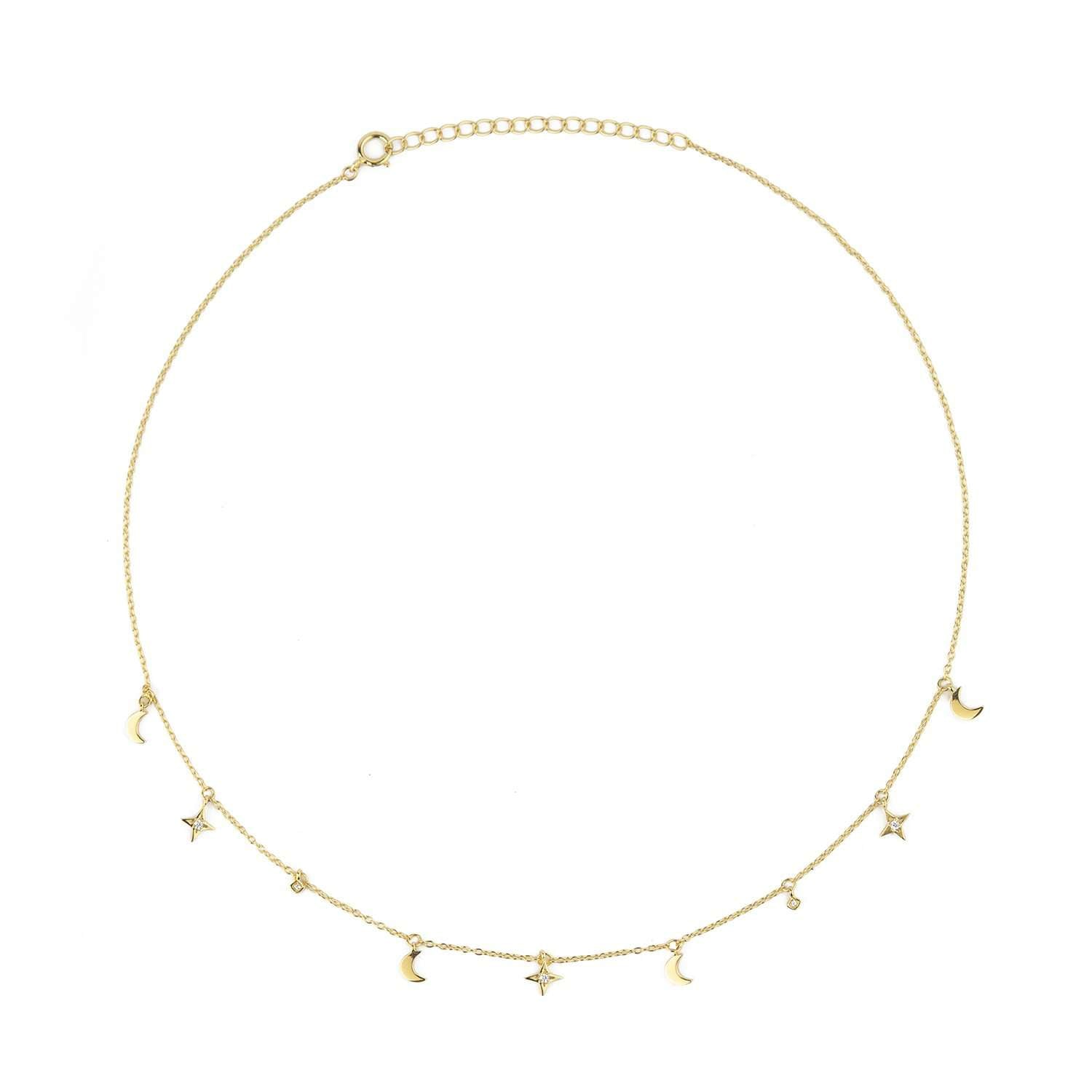 Buy online capsule  moon and star necklace | ESHVI