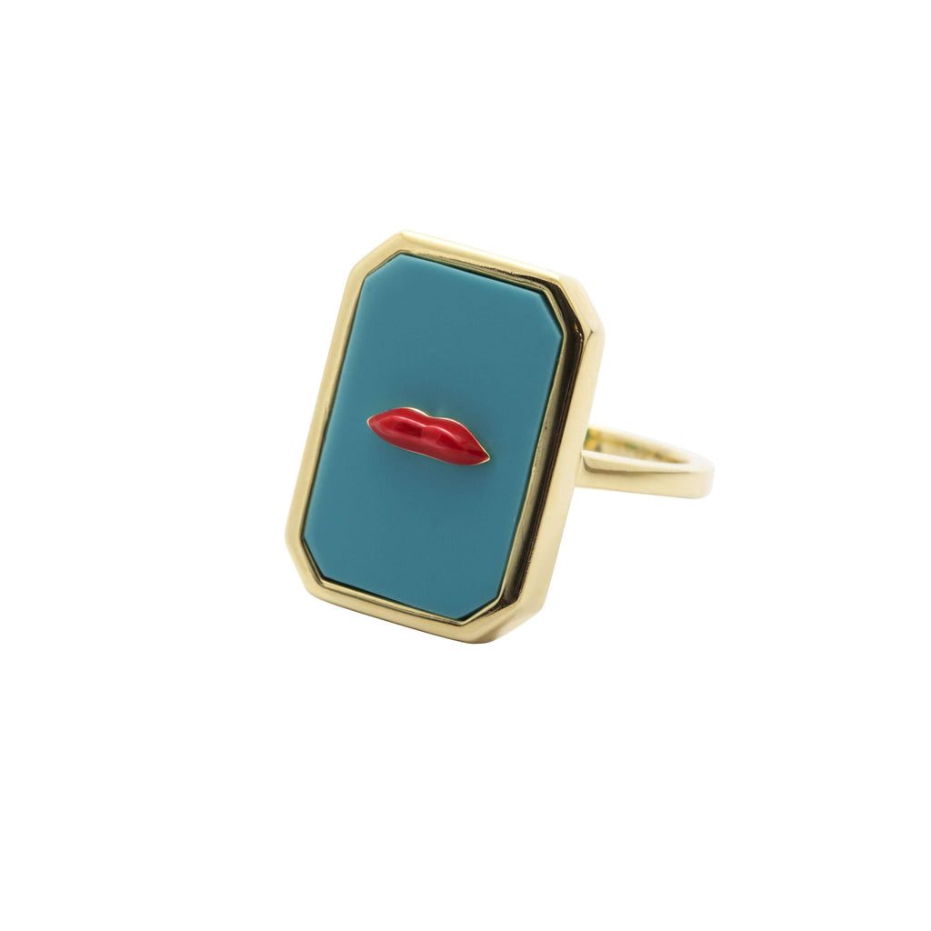Turquoise lips  ring