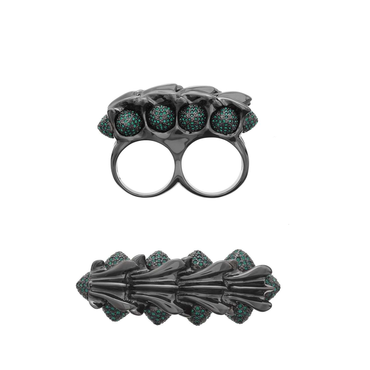 Twisted knuckleduster ring