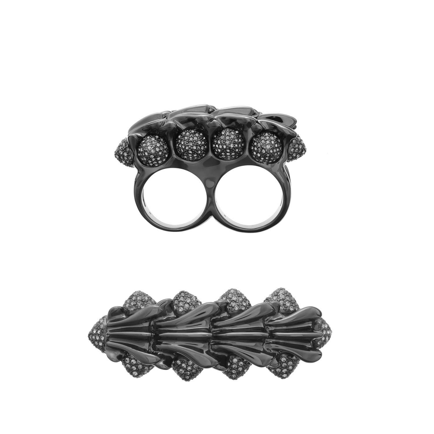 Eshvi: Twisted knuckleduster ring | Jewelry > Rings,Jewelry -  Hiphunters Shop