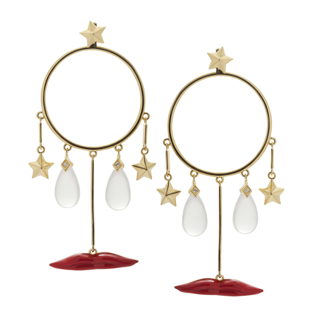 Clear drop and star  Earrings