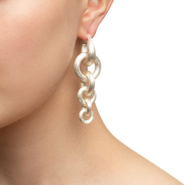 Triple Hoop Matte Earrings
