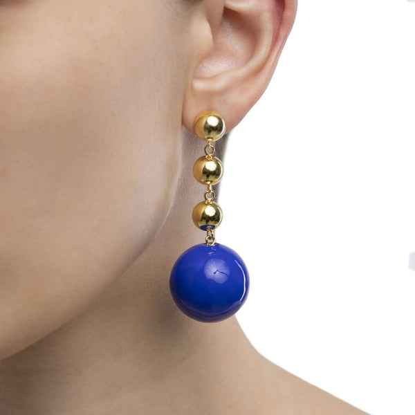 Galaxy Blue Enamel Earrings