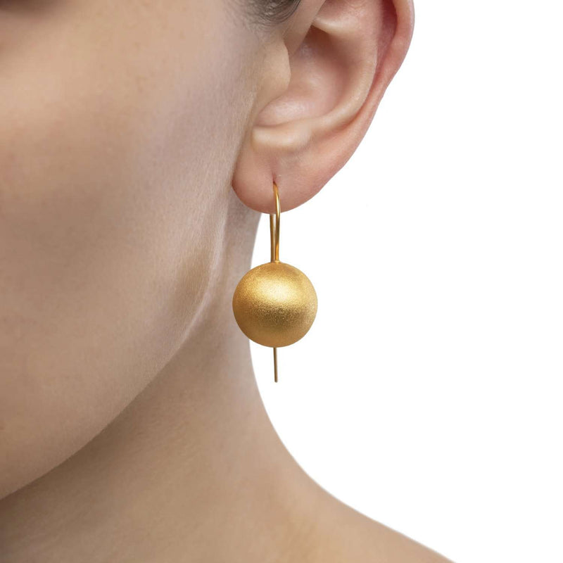 Hand crafted ball Earrings