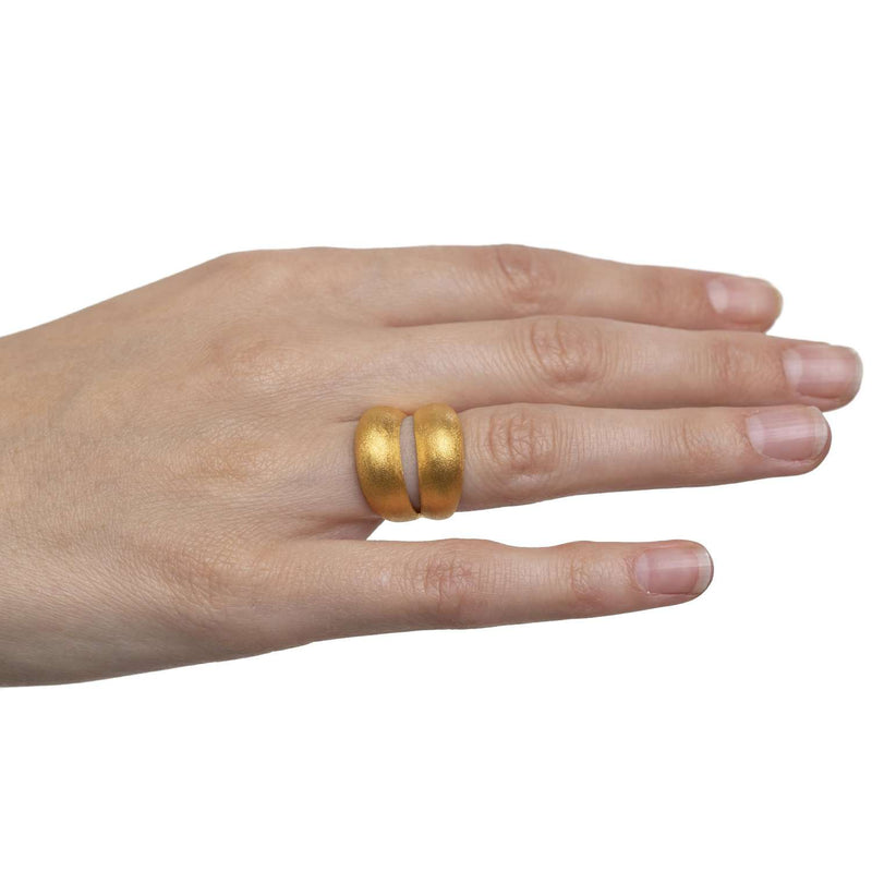 Double Bangle Hand Crafted Ring