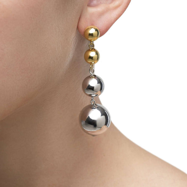 Mirror ball earrings