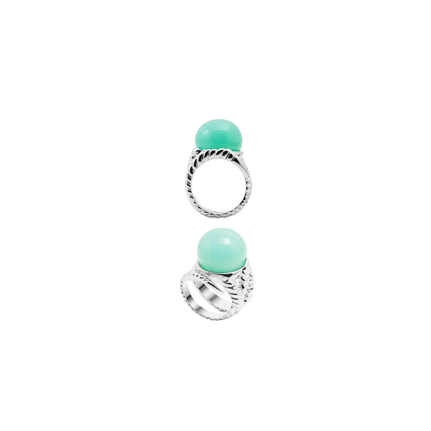 Mint braid ring