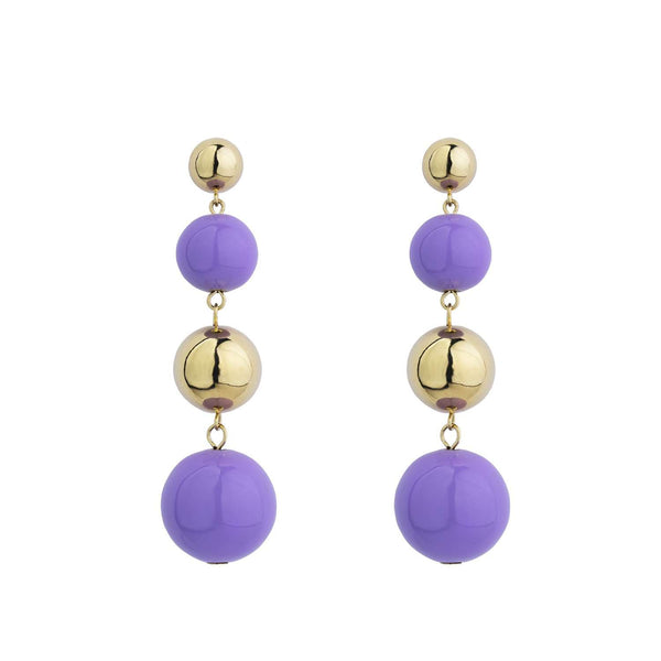 Lila galaxy earrings