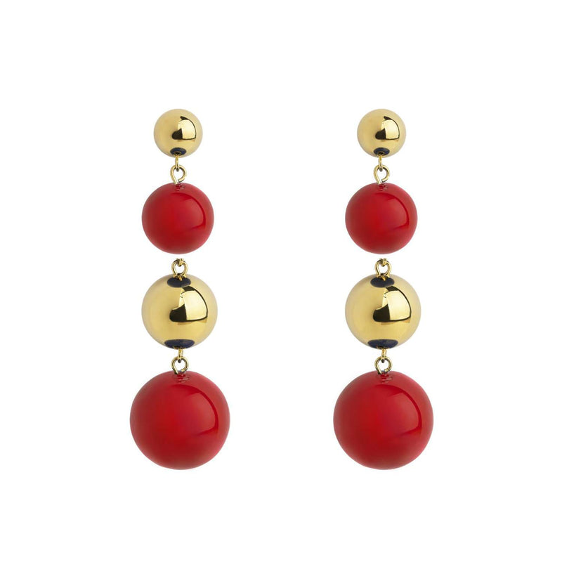 Galaxy red enamel  earrings