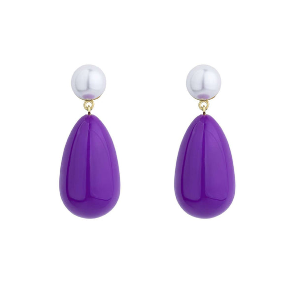 Purple Enamel Earrings