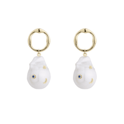 Baroque Pearl Galaxy Earrings