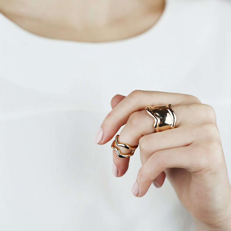 Yellow Gold Plated Ring